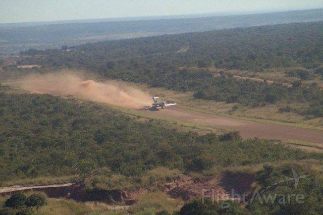 — — - S9-BAV landing roll on Catoca (Angola)