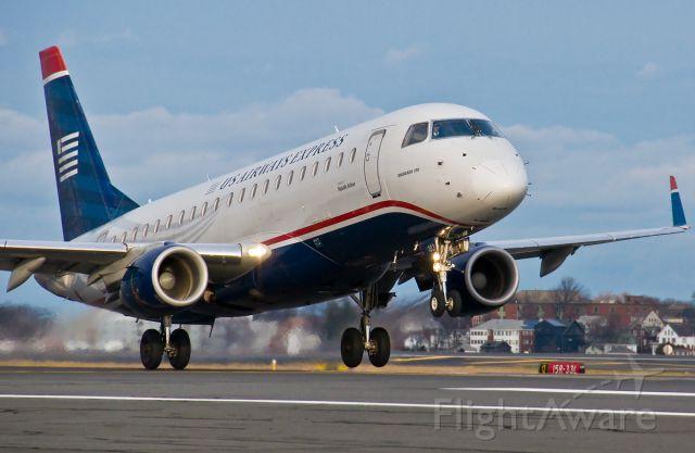 Embraer 170/175 (N103HQ) - DBA US Airways Express @ KBOS Logan Airport
