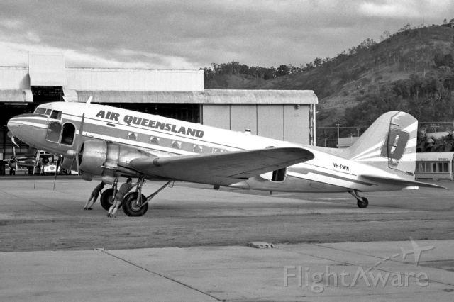 VH-PWN — - AIR QUEENSLAND - DOUGLAS DC-3(C) - REG VH-PWN (CN 9286) - CAIRNS QUEENSLAND AUSTRALIA - YBCS 26/6/1986