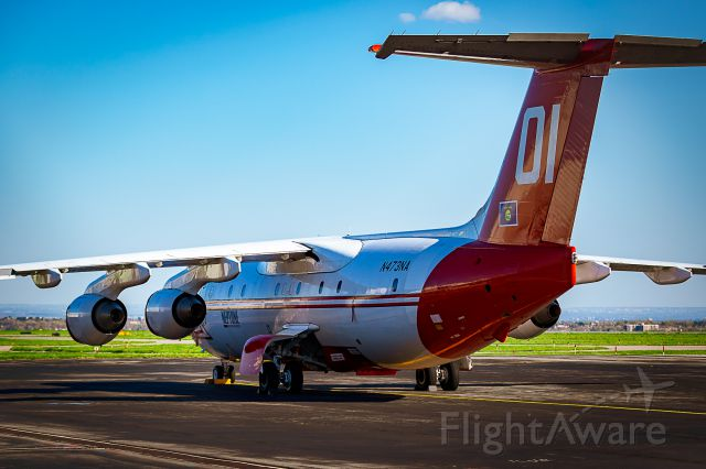 British Aerospace BAe-146-200 (N473NA) - On the ramp at USDA Forest Service