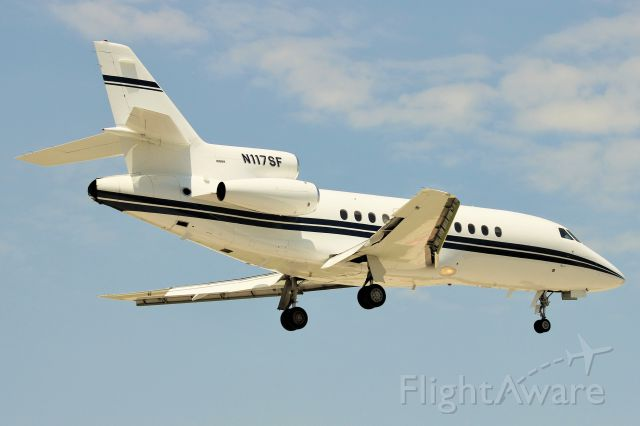 Dassault Falcon 10 (N117SF) - Landing on 4R Chicago Midway, July 2014.