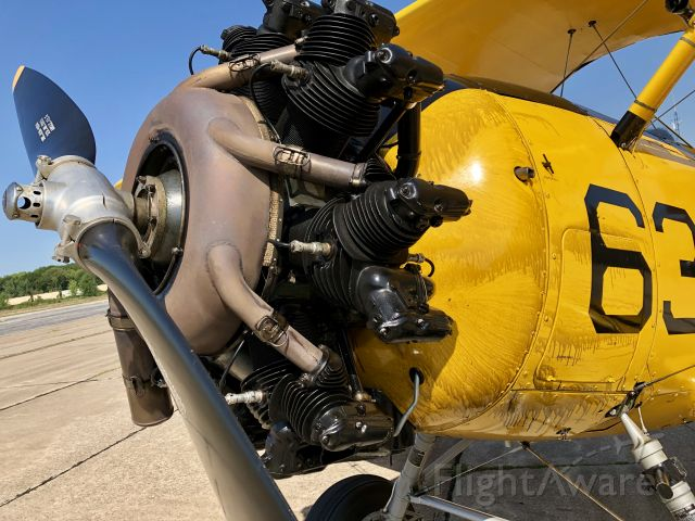 NAVAL AIRCRAFT FACTORY N3N (N582WH) - Even a small leak can make a big mess