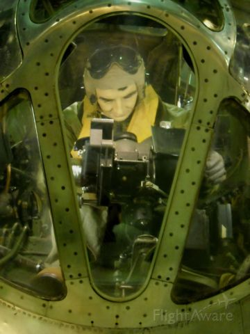 N4427297 — - The nose position of the bombardier in this massive B-29D on display at the National Museum of The United States Air Force-Dayton, OH