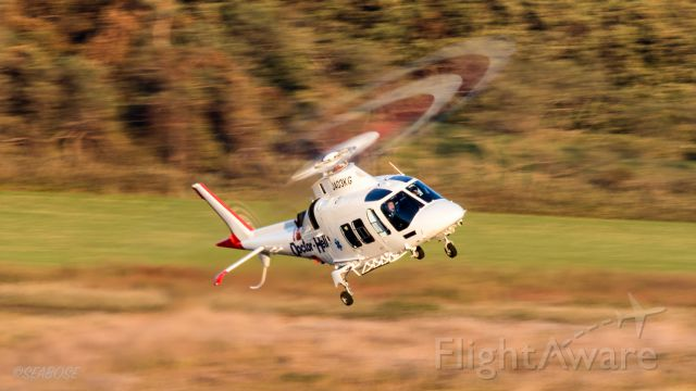 SABCA A-109 (JA03KG) - Agusta A109SPbr /Kagoshima International Aviation / helicopter ambulancebr /October.12.2015 Hakodate Airport [HKD/RJCH] JAPAN