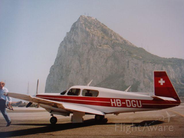 Mooney M-20 Turbo (HB-DGU) - the rock at Gibraltar, Mooney 252