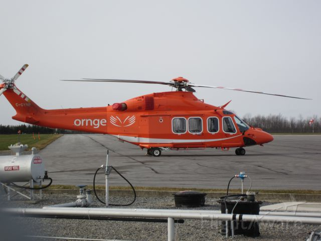 C-GYNP — - Ornge air ambulance heli sitting on the tarmac at Kingston