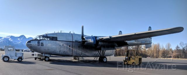 FAIRCHILD (1) Flying Boxcar (N8501W) - Maintenance taxiway, Palmer Municipal Airport, AK