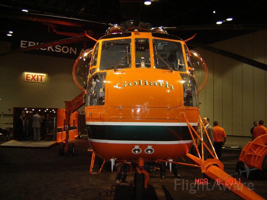 "Sikorsky CH-54 Tarhe (N158AC) - S/N 64081 ""Goliath"" As seen at Heli Expo 2011"
