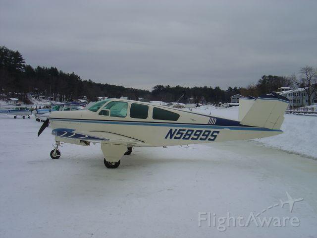 Beechcraft Bonanza (36) (N5899S) - ALTON BAY FEB. 09