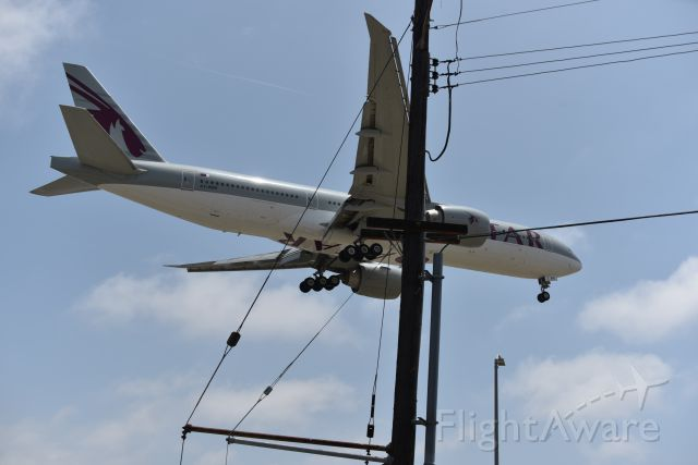 BOEING 777-200LR (A7-BBE) - Taken 31 May 2019