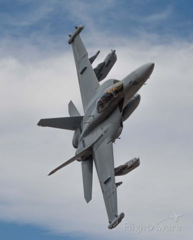 — — - EA-18G of VX-9 coming out of Star Wars Canyon in California.