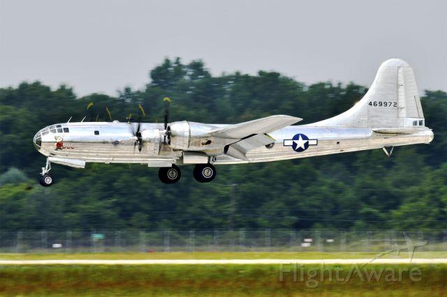 "Boeing B-29 Superfortress (46-9972) - Boeing B-29 Superfortress ""Doc"" landing at Thunder Over Michigan 2018."