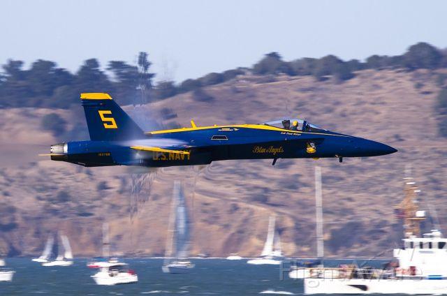 McDonnell Douglas FA-18 Hornet — - Shock wave forming around aft end!