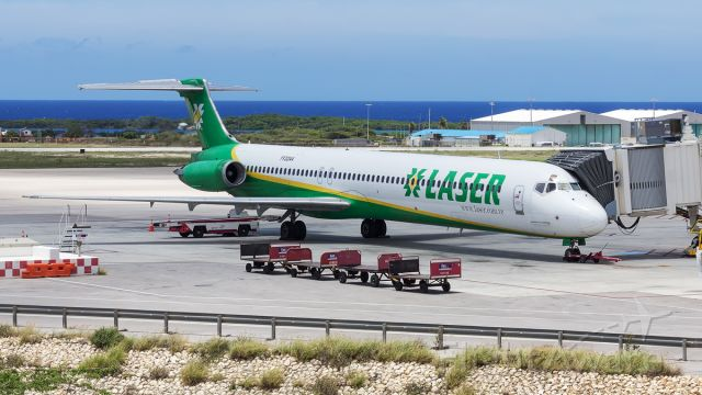 McDonnell Douglas MD-82 (YV-3244) - Parked at Gate 1.