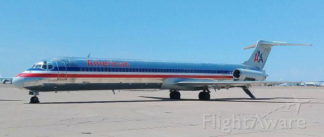 McDonnell Douglas MD-82 (N555AN) - Mothballed at KROW Boneyard on 08/21/18