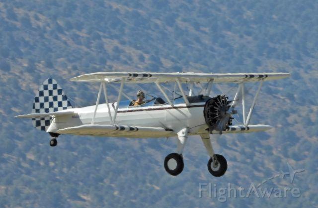 Boeing PT-17 Kaydet (N56214) - Landing 27 at Carson City, NV