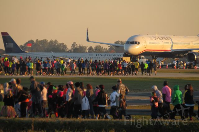 Boeing 757-200 (N941UW) - Taken October 26, 2013 at the 7th Annual Runway 5K Run/Walk (I Walked). Part of course was on runway 5-23 and they had this parked for our enjoyment!