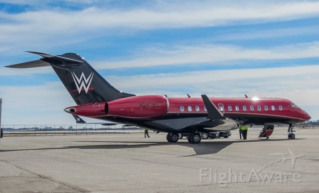 Bombardier Global 5000 (N247WE) - World Wrestling Entertainment in town! What a stunning paint job on this Global 5000!