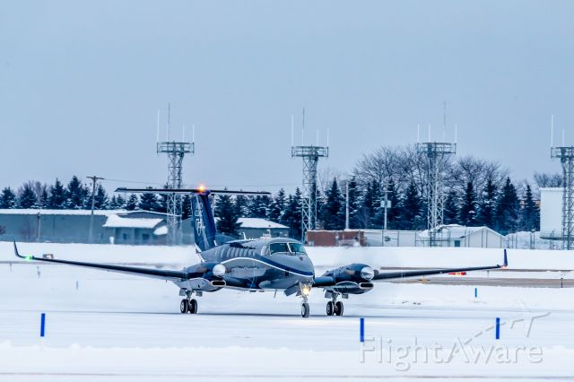 Beechcraft Super King Air 350 (N350MC) - Mayo One taxies at KGRR before picking up a patient during a MEDEVAC flight
