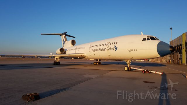 Tupolev Tu-154 (D-AFSG) - Tupolev was confiscated and left at EDDS as decoration with a livery of Airport Stuttgart