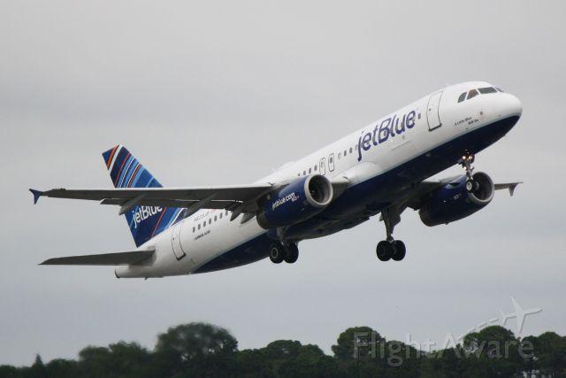 "Airbus A320 (N639JB) - JetBlue Flight 164 (N639JB) ""A Little Blue Will Do"" departs Sarasota-Bradenton International Airport"