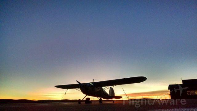 Cessna 140 (N2640N) - Sunrise in Farmington, MO