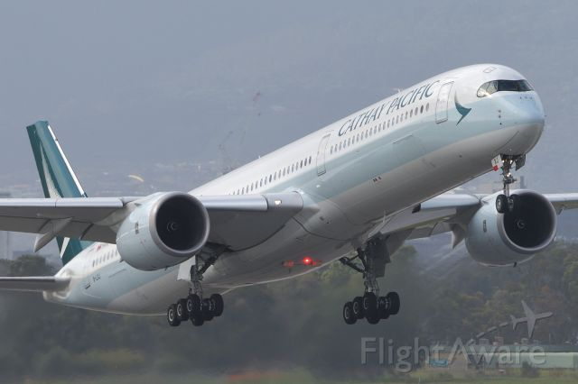 Airbus A350-1000 (B-LXJ) - Cathay cargo only flight CX2174 departing off Rwy 23, Adelaide, South Australia, Sunday July 19, 2020 bound for Hong Kong.