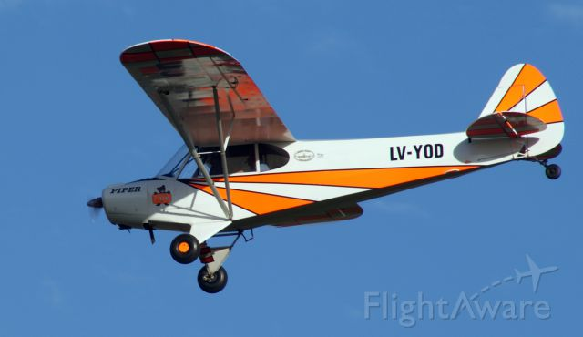 Piper L-18B Cub Special (LV-YOD) - Taken on march 27 2011 with an Agfa Alfa 200 cammara