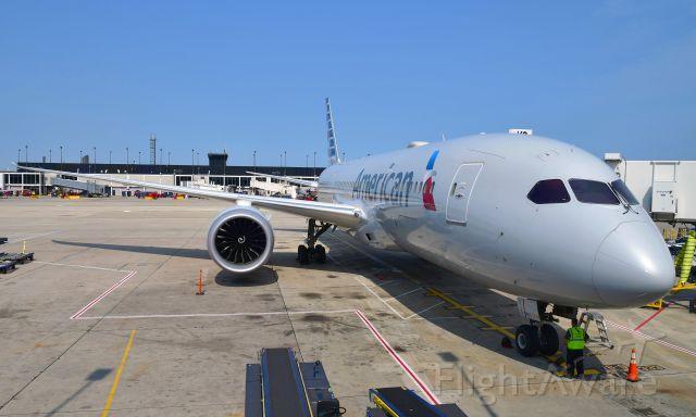 Boeing 787-8 (N802AN) - American Airlines Boeing 787-8 Dreamliner N802AN in Chicago