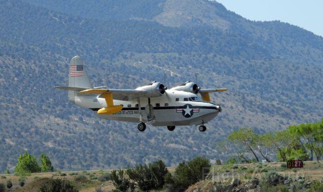Grumman HU-16 Albatross (N7025N) - On final on 27 at Carson City Airport