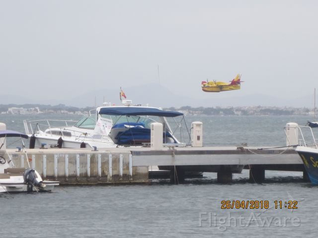 — — - Fire Fighter returns to Port de Pollensa base