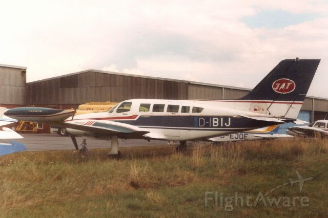 Cessna 402 (D-IBIJ) - Seen here in Aug-89.<br /><br />Reregistered OK-MIS 17-Feb-15.