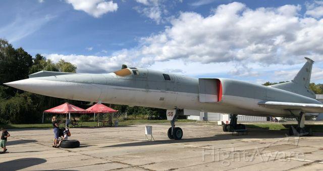 Tupolev Tu-22 — - Tu-22M-0 Backfire-A Strategic Bomber, On display at the Oleg Antonov State Aviation Museum. Kiev-Ukraine, Aug 2019.