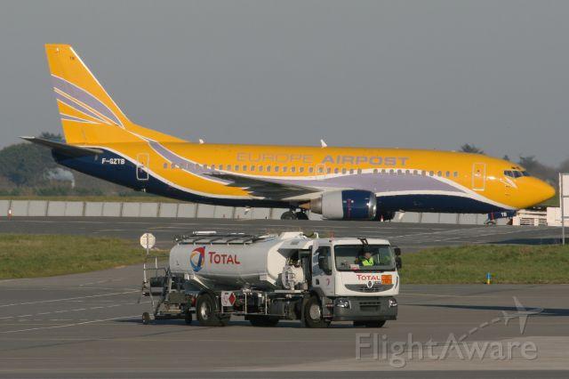BOEING 737-300 (F-GZTB) - Boeing 737-33V, Parking area, Brest-Guipavas Airport (LFRB-BES)