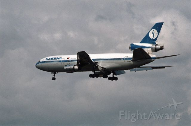 McDonnell Douglas DC-10 (OO-SLD) - Final Approach to Narita Intl Airport Rwy34 on 1987/09/12
