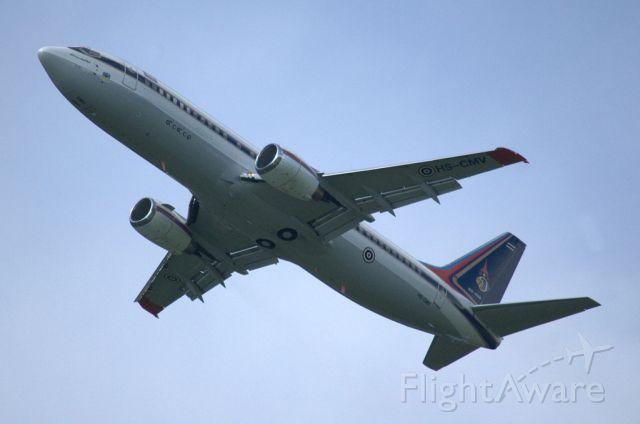 BOEING 737-400 (HS-CMV) - low approach at Innsbruck