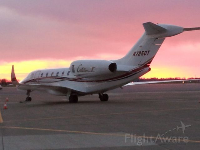 Cessna Citation X (N725DT) - Donald Trump flies nothing but the best! This shot taken 4-13-16 while the Donald is off in downtown Pittsburgh speaking to his followers