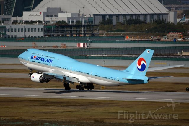 BOEING 747-8 (HL7630) - 10/28/2015 Take off from Incheon to Frankfrut