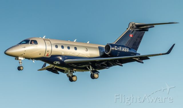Embraer Legacy 450 (C-FASV) - This Embraer Legacy 450 (Emb 545) belonging to AirSprint about to land on 06L