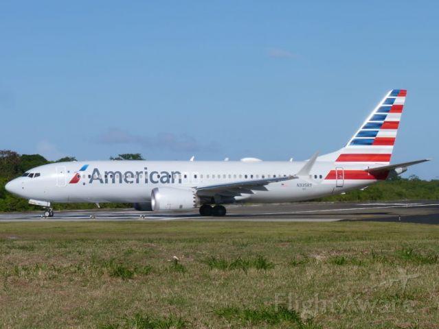 Boeing 737-800 (N335RT) - B738 MAX READY TAKEOFF RWY08 MDPP TO KMIA