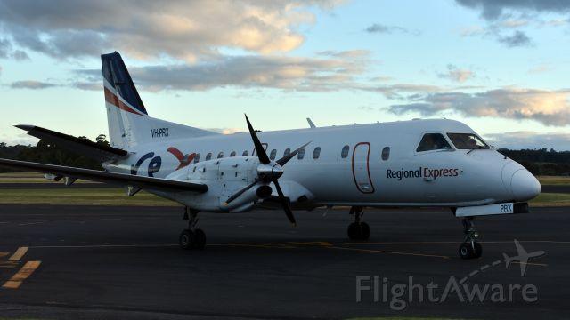 Saab 340 (VH-PRX) - Regional Express Airlines Saab 340B VH-PRX (340B-303) at Wynyard Airport Tasmania on 26 January 2017.