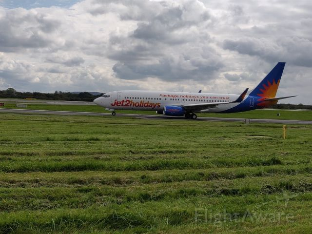 Boeing 737-800 (G-JZBF) - JET2 TAXING AFTER LANDING AT MANCHESTER