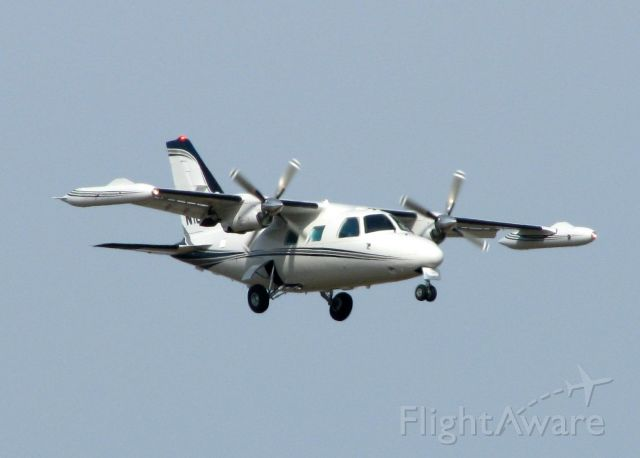 Mitsubishi MU-2 (N100NP) - Landing at Shreveport Regional.