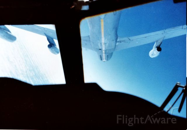 — — - Air refueling does not have to be straight and level. This was taken in 1985 at Castle AFB.