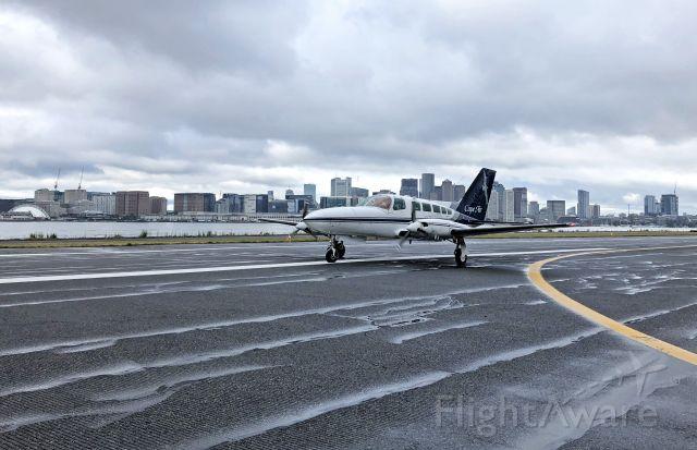 Cessna 402 (N6879R) - Welcome to Boston