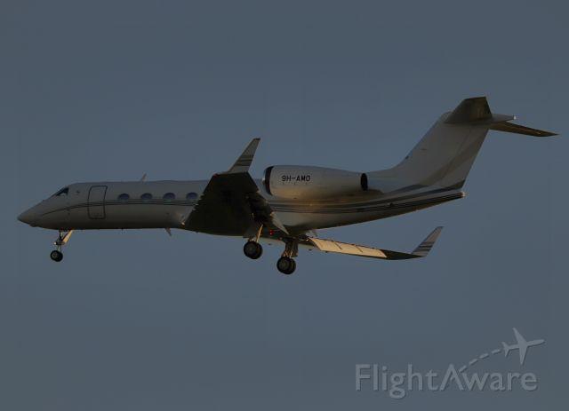 Gulfstream Aerospace Gulfstream IV (9H-AMO) - Made it right at last light.