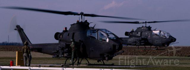 — — - US Army AH-1C Cobras FARP