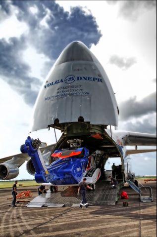 Antonov An-12 — - Loading Bristow S-92
