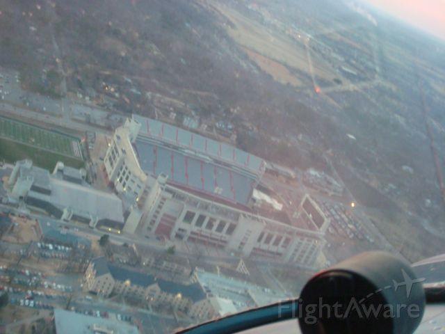 Cessna 140 (N2257V) - University of Arkansas stadium