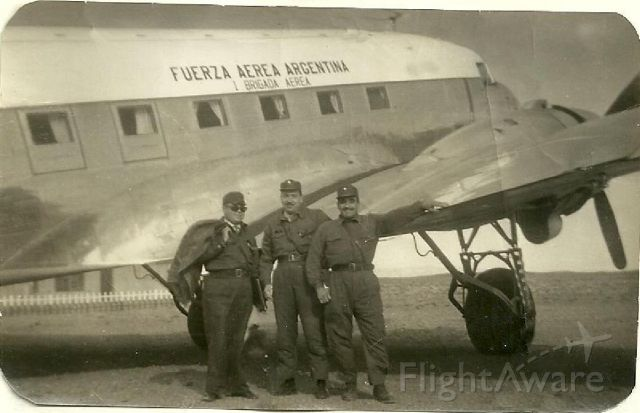 Douglas DC-3 — - Looking around I found this wonderful photo. This photo belongs to my father 50 years ago, with its partners in the Patagonia Argentina.
